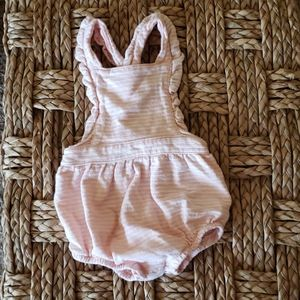 Pink and white stripes romper